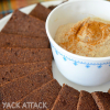 Raw Banana Cacao Cookies with Cinnamon Cream Dip