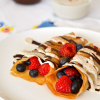 Zebra Berry Crepes
