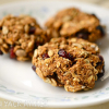 Healthy Pumpkin Cranberry Oatmeal Cookies