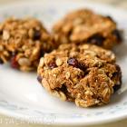 Healthy Pumpkin Cranberry Oatmeal Cookies