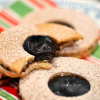 Vegan Chocolate Linzer Cookies