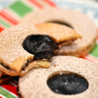 Vegan Chocolate Linzer Cookies
