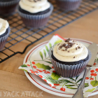 Dark Chocolate Sea Salt Cupcakes with Vanilla Bean Frosting