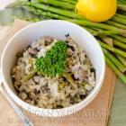 Asparagus Portabella Risotto