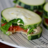 Raw Zucchini Squash Sandwiches with Sprouted Hummus