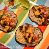 Spicy Mushroom Tacos with Soft Eggplant Shells & Hot Cheese Sauce