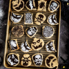 Vegan Halloween Shortbread Cookies