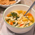 Oven Roasted Vegetable Noodle Soup