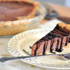Raw Chocolate Mousse Pie with Chocolate Drizzle