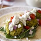 Baked Spinach Falafel & Homemade Tzatziki Sauce