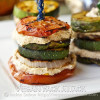 Grilled Summer Stacks with Smoky Almond Cream