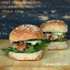 Sweet Potato Adzuki Bean Burger Sliders with Dill Aioli