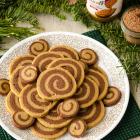 Chocolate Biscoff Pinwheel Cookies