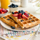 Berry Pineapple Belgian Waffles