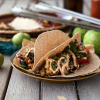 Beefy Jackfruit Tacos with Tomatillo Fajita Filling