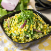Summer Corn Salad with Basil Pesto Aioli