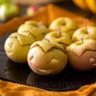 Peanut Butter Apple-Lanterns