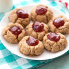 Almond Butter–Jam Thumbprint Cookies