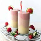 Layered Strawberry Peach Smoothie