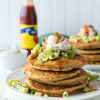 Zucchini Corn Cakes with Green Tomato Relish