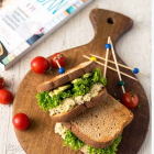 Chickpea Salad Sandwich {Fuss-Free Vegan Cookbook}