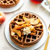 Chai Waffles with Cinnamon Apple Topping
