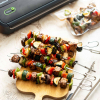 Marinated Tempeh Veggie Skewers