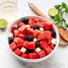 Watermelon Blackberry Feta Salad