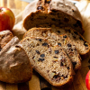 Crusty Apple Cranberry Dutch Oven Bread