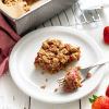Gluten-free Strawberry Rhubarb Crumble Bars