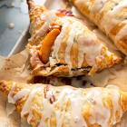 Vegan Glazed Peach Turnovers