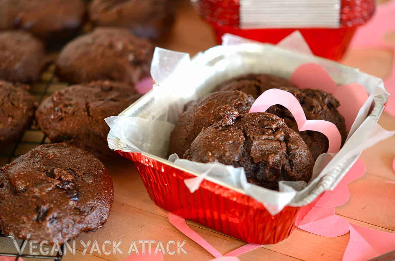 Vegan Double Chocolate Cake Cookies