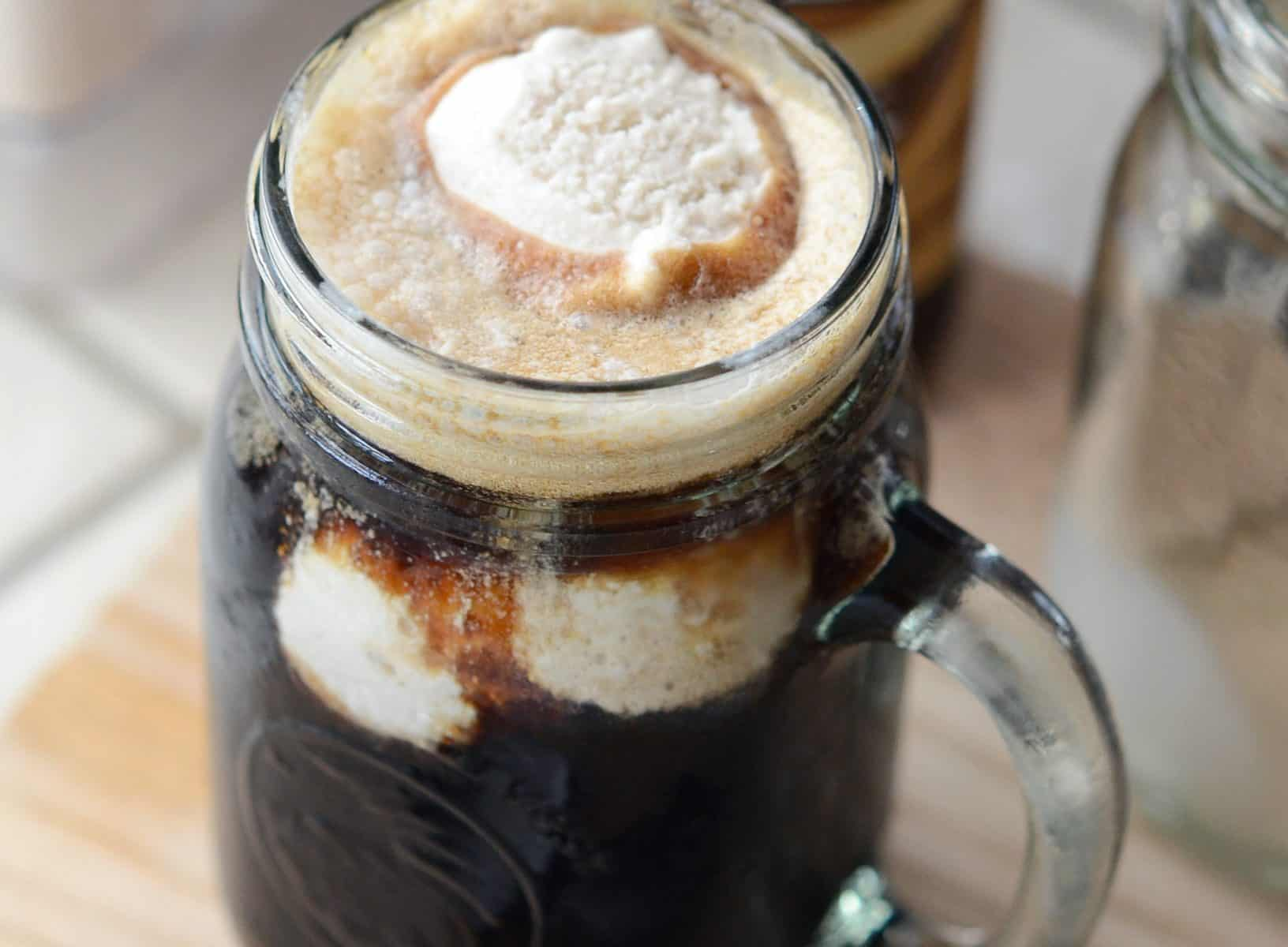 Vegan Irish Whiskey Ice Cream Beer Float