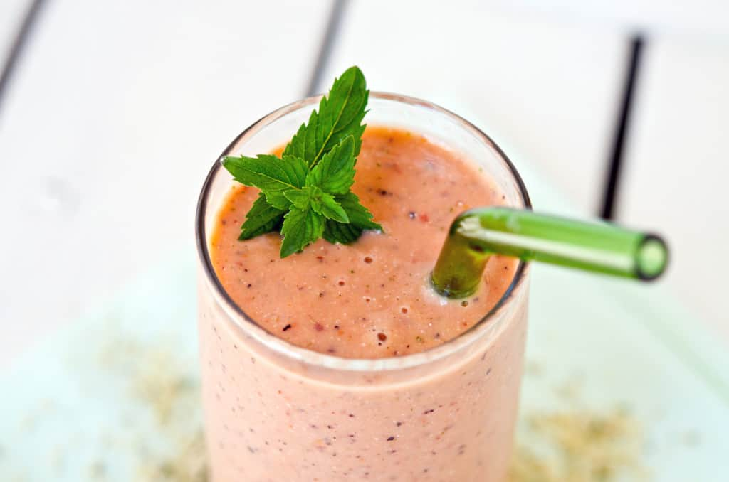 Mint Melon Peach Smoothie