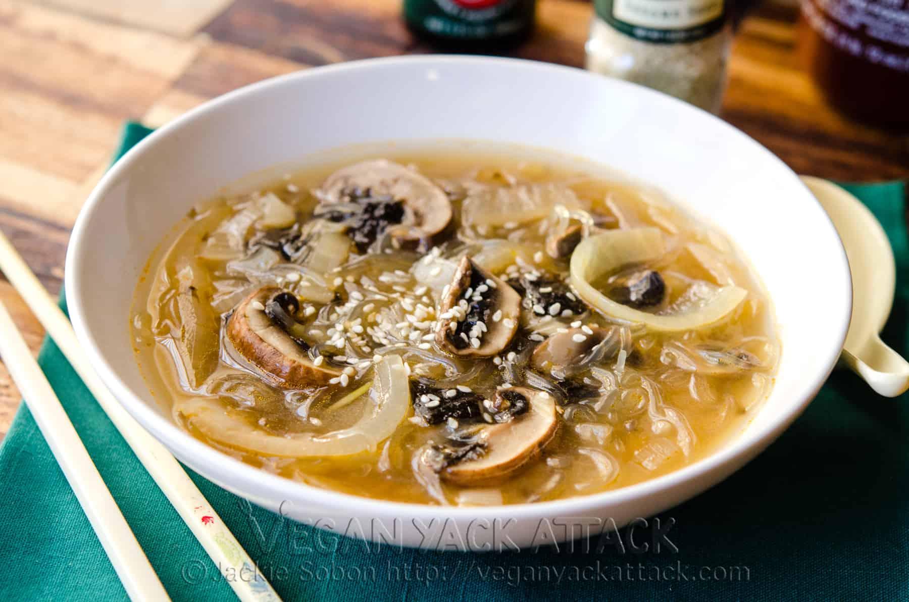 Miso Mushroom Onion Soup