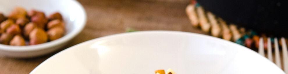 Quinoa Pasta Garlic Sauce Toasted Hazelnuts