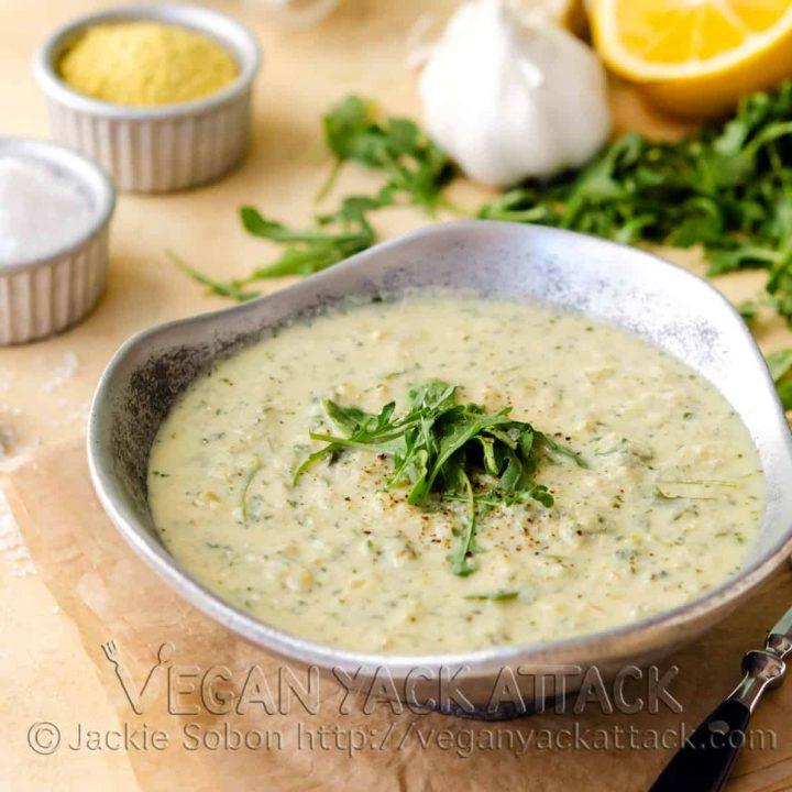 3-in-1 Artichoke Arugula Soup