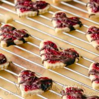 Cranberry Shortbread Cookies with Chocolate Drizzle