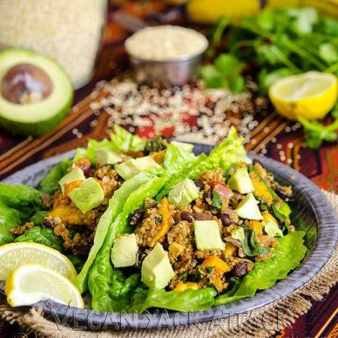 Fiesta Lettuce Wraps on a plate