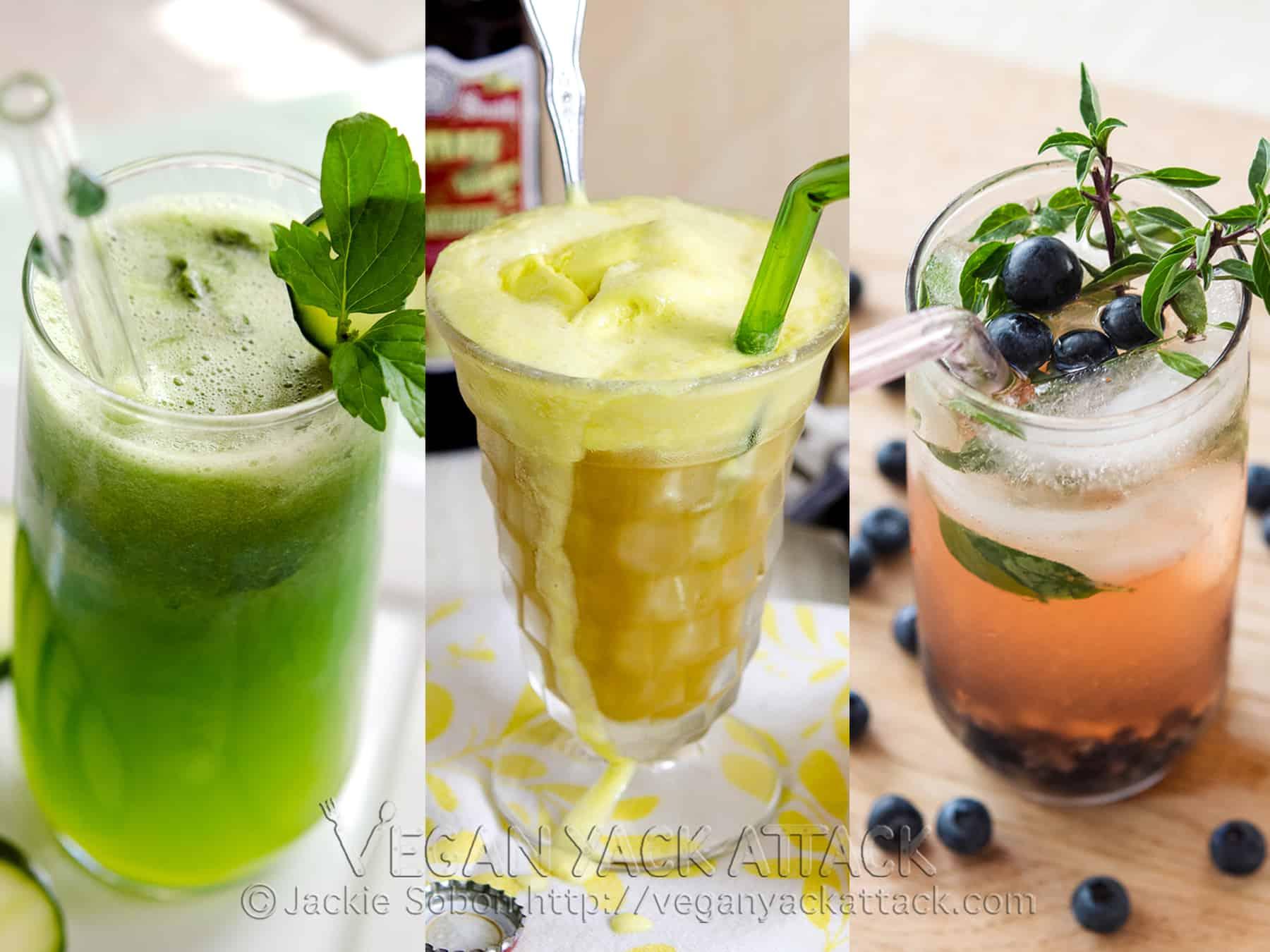 A trio of brunch beverages