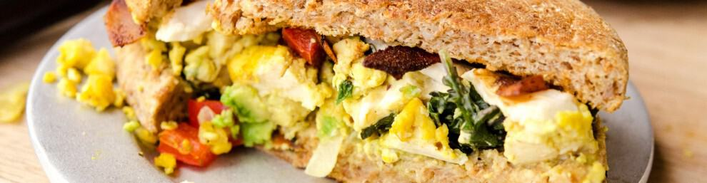tofu scramble breakfast sandwich