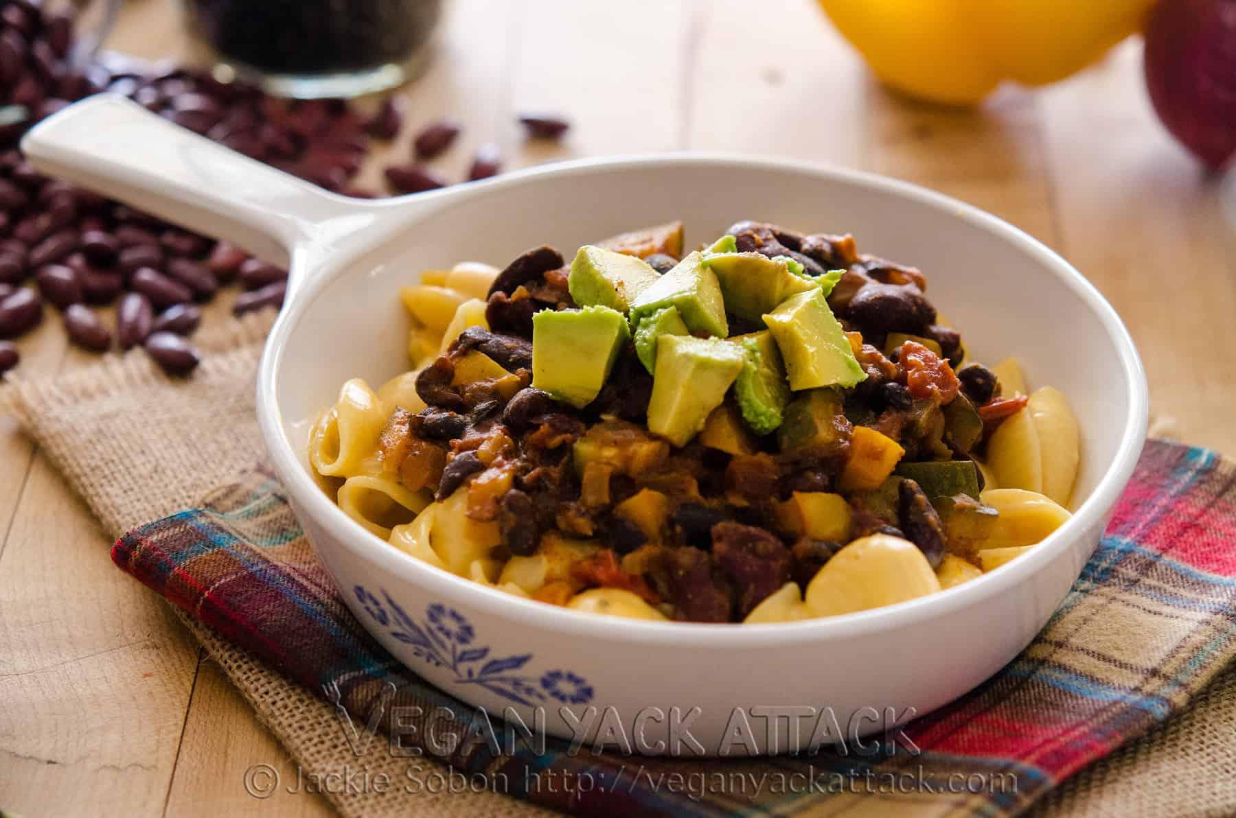 Vegan Chili Fiesta Mac n Cheese