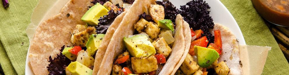 tofu kale tacos