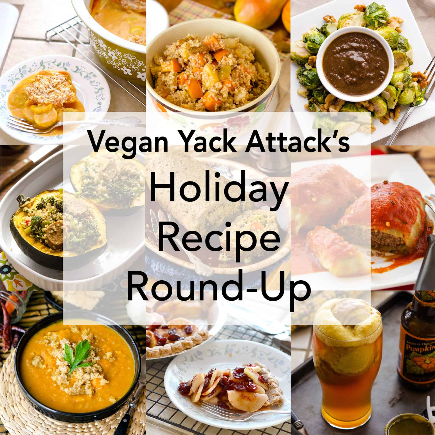 vegan holiday collage