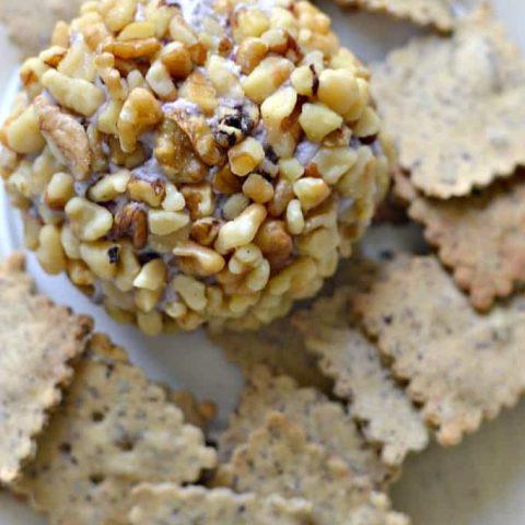 Cranberry Walnut Vegan Cheese Ball