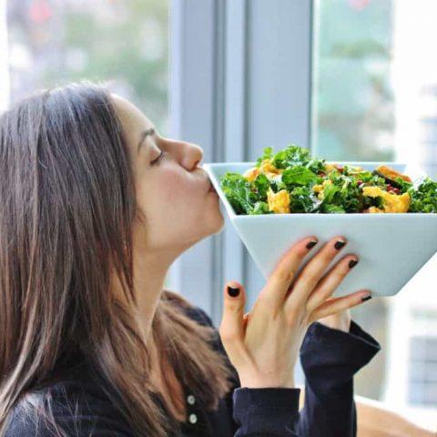 Winter Kale Salad with Orange, Fennel, and Black Olives