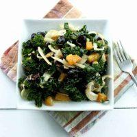 Winter Kale Salad with Orange, Fennel & Black Olives
