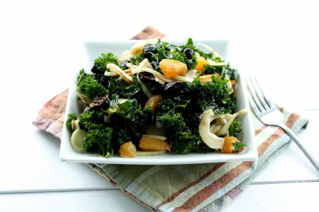 Kale Orange Olive Salad