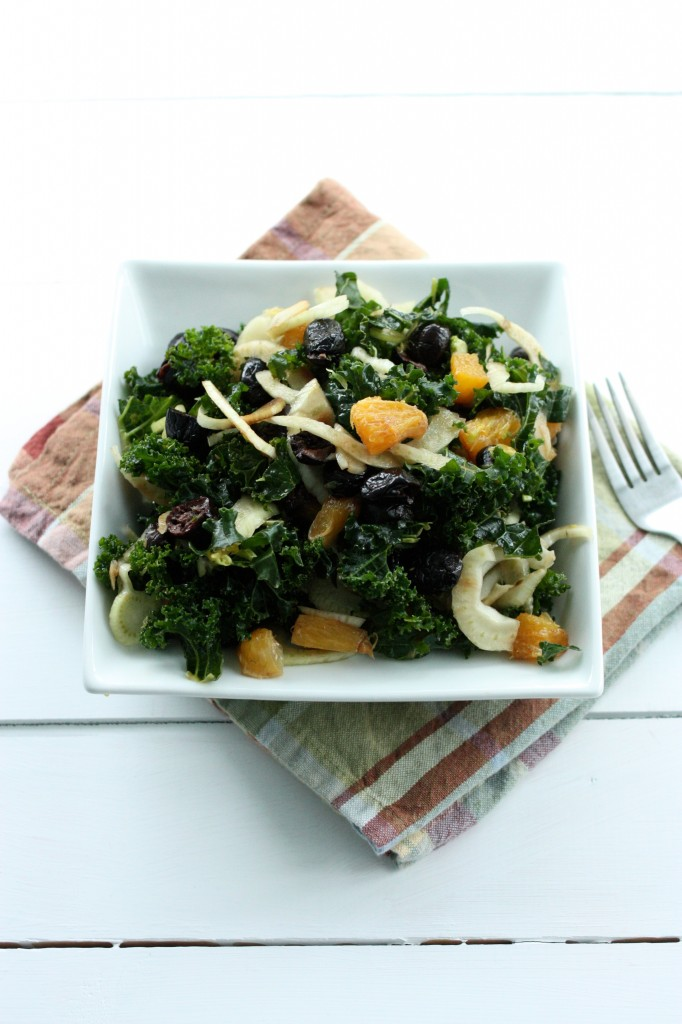 Kale Orange Fennel Olive Salad
