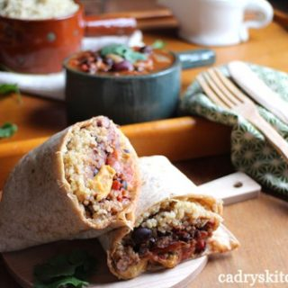 Southwestern Chili Cheese Burritos